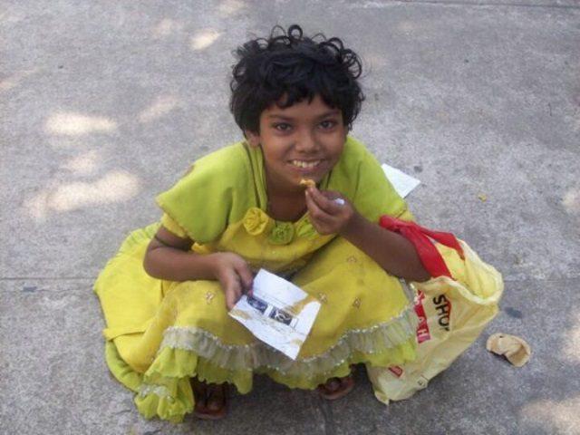 Kinderpatenschaft Kathmandu Kind glücklich
