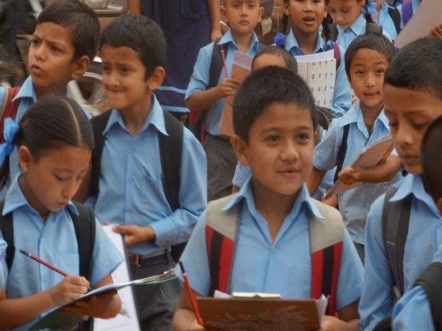 Kinderpatenschaft Kathmandu Schulkinder 1