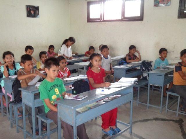 Kinderpatenschaft Kathmandu Schulklasse 4