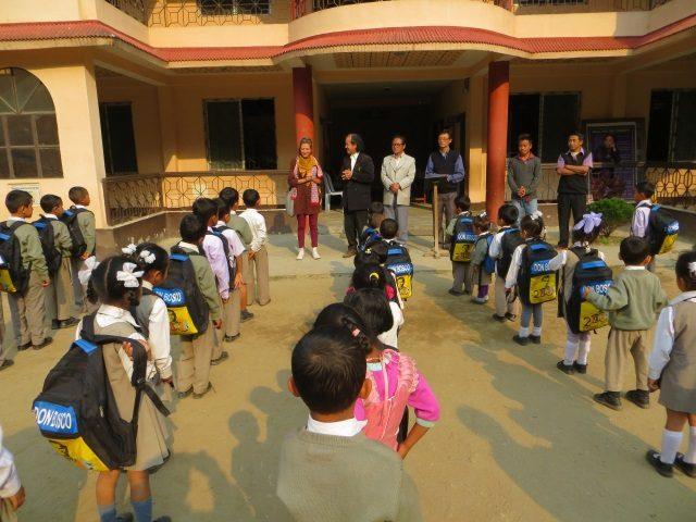 Kinderpatenschaft Sonada Grundschüler in Mallot