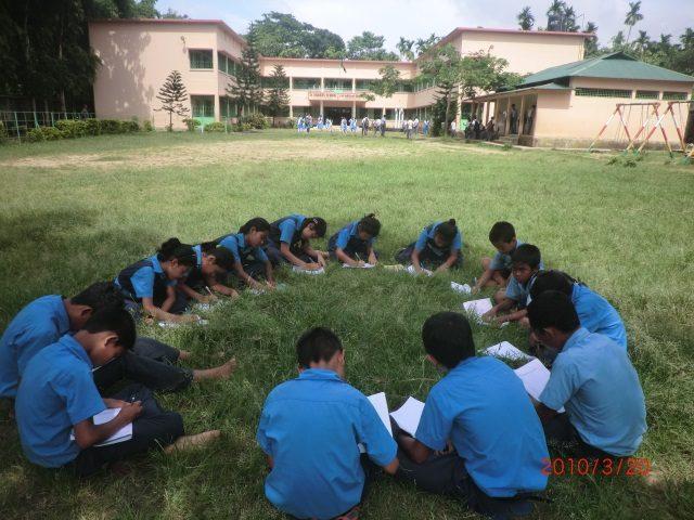 Kinderpatenschaft Utrail lernen im Freien 2
