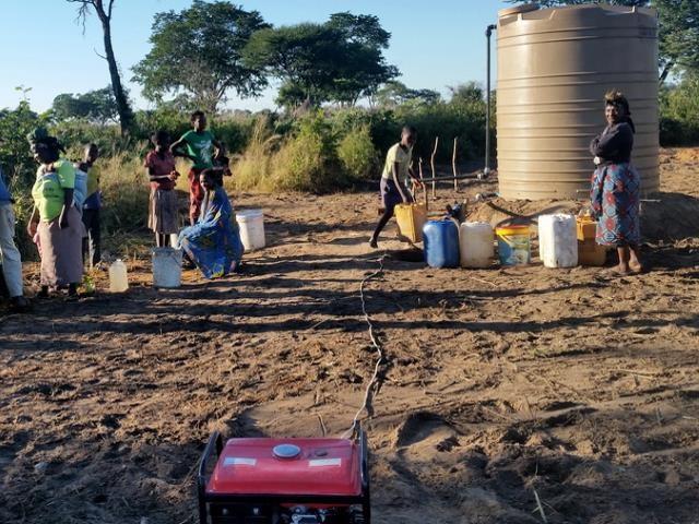 Projekt Brunnenbau Namibia - Wassertank