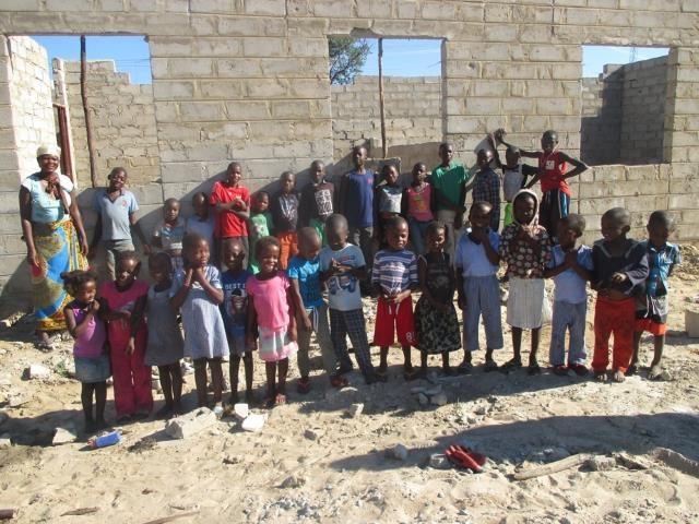 Projekt Kindergartenbau Namibia - Bau nach drei Monaten