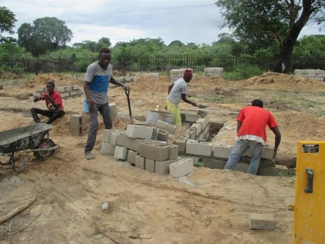 Projekt Kindergartenbau Namibia - Baubeginn